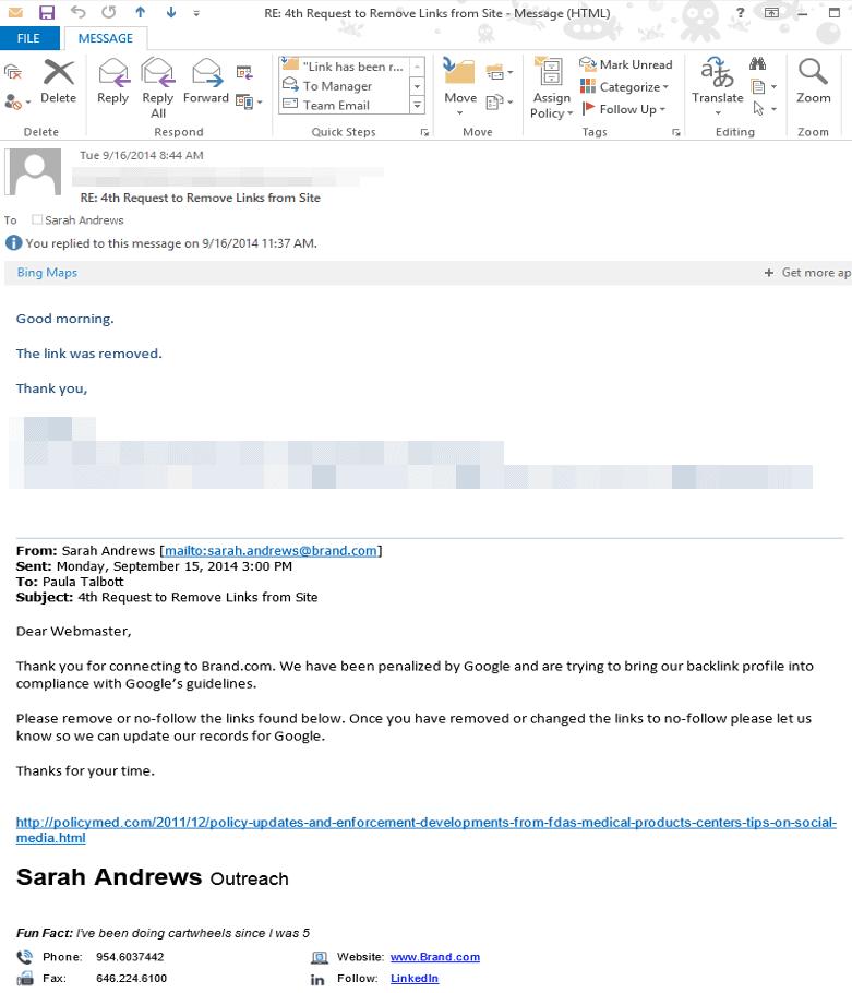 brand com link removal email