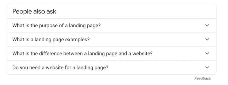 People also ask SERP module.