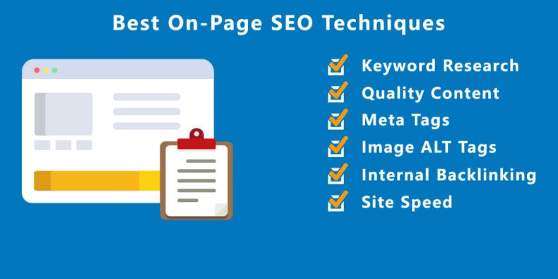 Infographic of the best on-page SEO techniques.