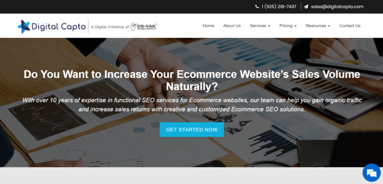 Website for SEO expert in ecommerce.