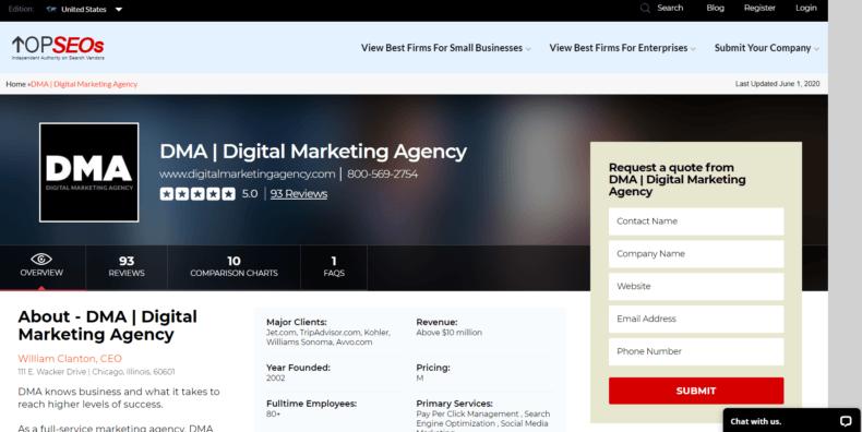 "Reviews of the SEO company ""Digital Marketing Agency."""
