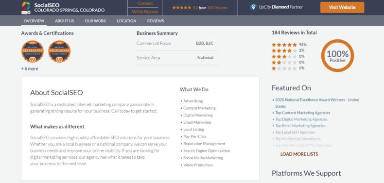 """Reviews of the SEO company """"SocialSEO."""""""