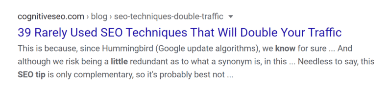 Search engine result with SEO-optimized meta title.