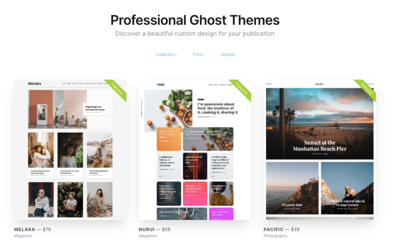 Website themes for Ghost SEO.