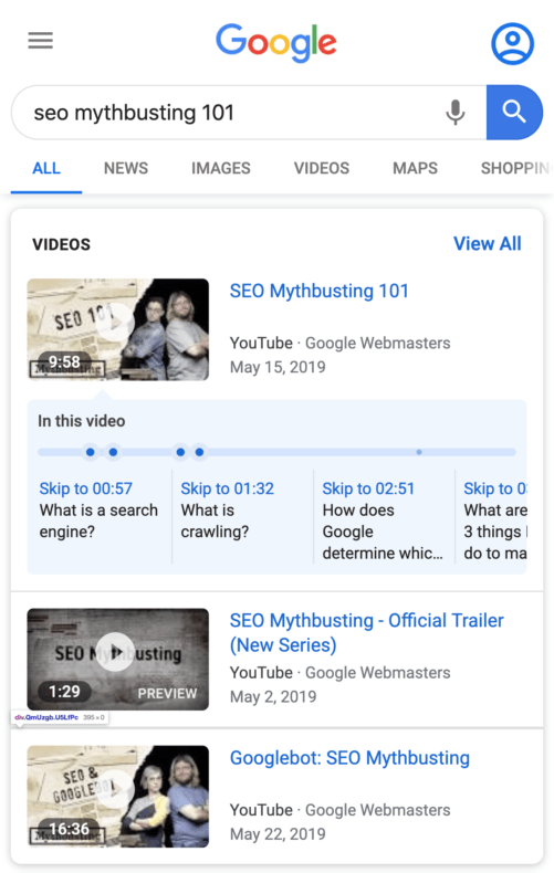Using schema to create rich snippets for video SEO.