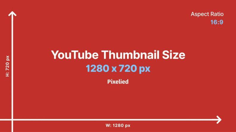 YouTube thumbnail size template.