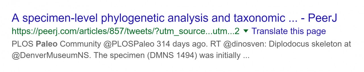 An example of a parameter on the end of a non SEO-friendly URL.