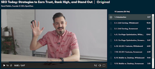 The Rand Fishkin SEO course from Skillshare.