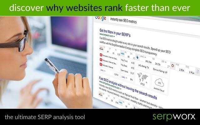 A screenshot of the SerpWorx SEO toolbar for Chrome.