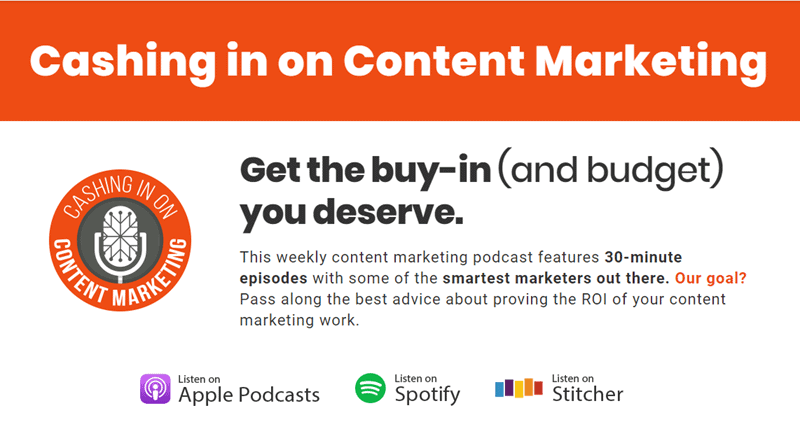 Cashing in on Content Marketing Podcast.