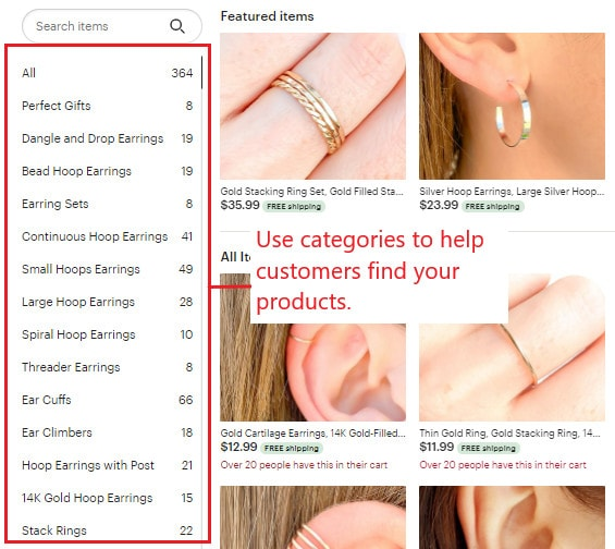 How to create a simple Etsy shop structure for best Etsy SEO.