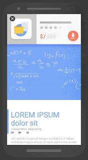 An illustration of a mobile pop-up.