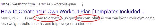 A meta description that doesn't use keyword stuffing.