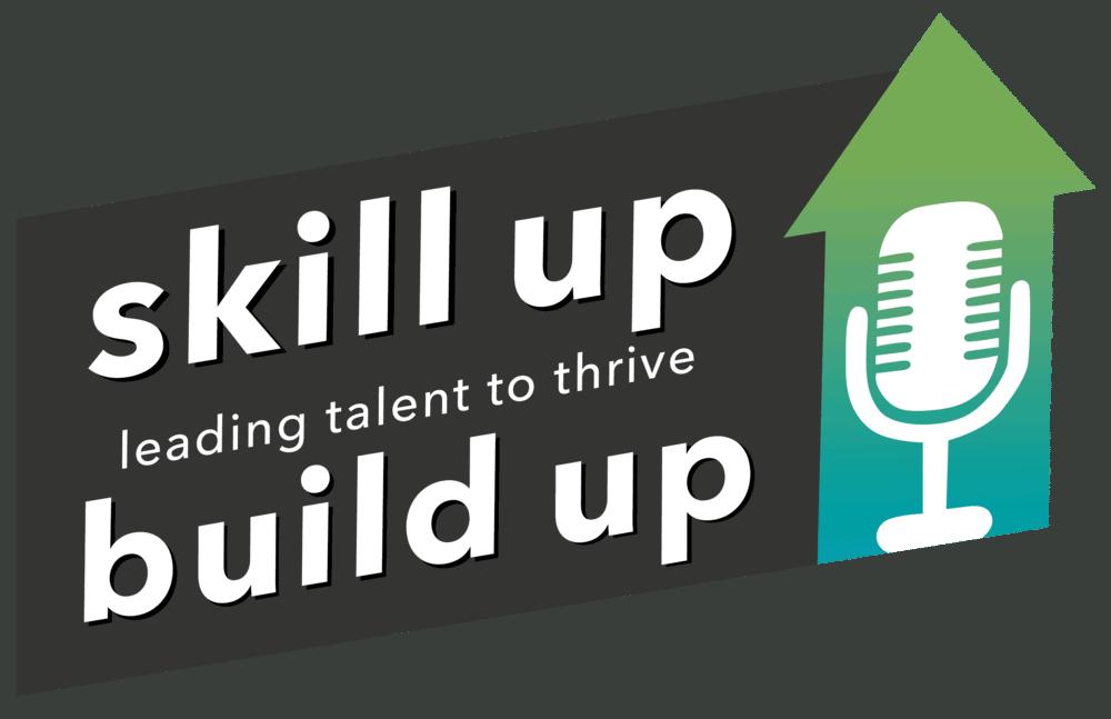 Logo of the Skill Up SEO podcast.