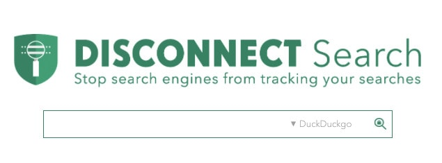 A screenshot of the alternative search engine Disconnect Search.