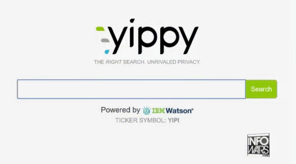 yippy alternative search engine screenshot