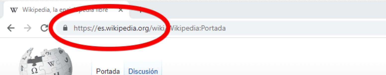 A screenshot of Wikipedia's Spanish subdomain.