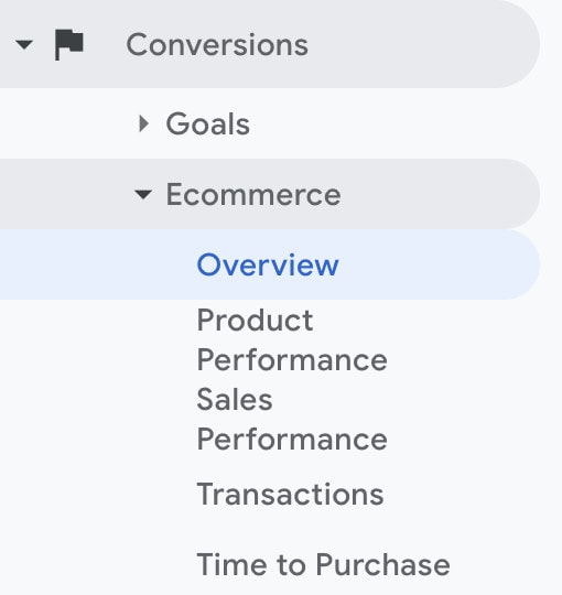 The screenshot shows a Google analytics section.